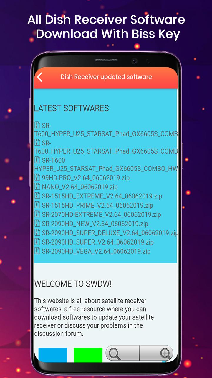 All Dish Receiver Software Download with Biss key for Android - APK