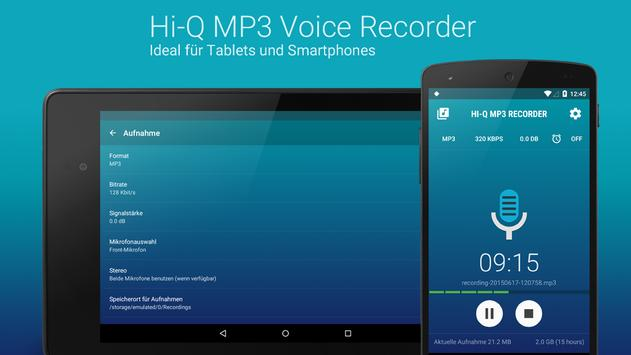 Hi-Q MP3 Recorder (Testversion) Screenshot 9