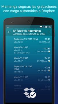 Hi-Q MP3 Grabador de Voz (Gratis) captura de pantalla 1
