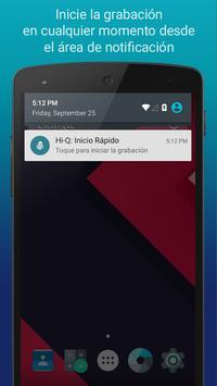 Hi-Q MP3 Grabador de Voz (Gratis) captura de pantalla 2