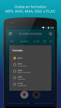 Hi-Q MP3 Grabador de Voz (Gratis) captura de pantalla 3