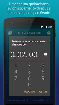Hi-Q MP3 Grabador de Voz (Gratis) captura de pantalla 6