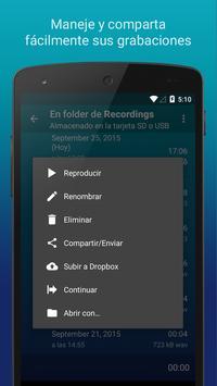 Hi-Q MP3 Grabador de Voz (Gratis) captura de pantalla 7