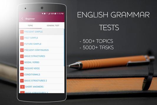 English Grammar Test screenshot 1