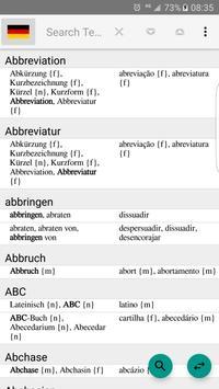German to Portuguese Dictionary screenshot 13