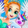 ikon Unicorn putri Dreamland-Baby Perawatan hewan
