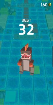 Blocky Jumping Run Avoid Shark screenshot 1