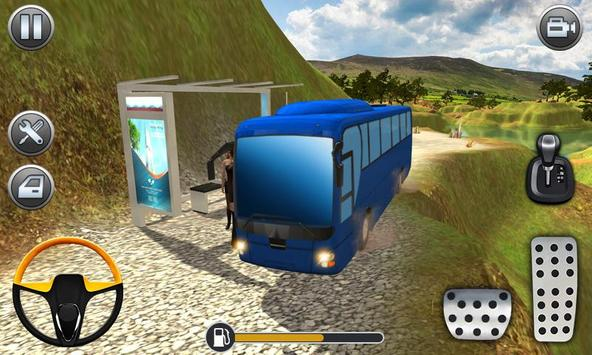 Mountain Bus Uphill Climb Driving Simualtor screenshot 1