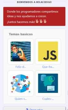 Holacodigo - programacion y red social screenshot 5