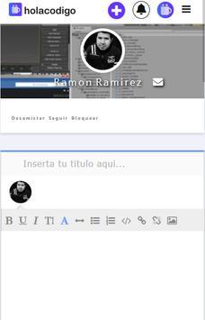 Holacodigo - programacion y red social screenshot 1
