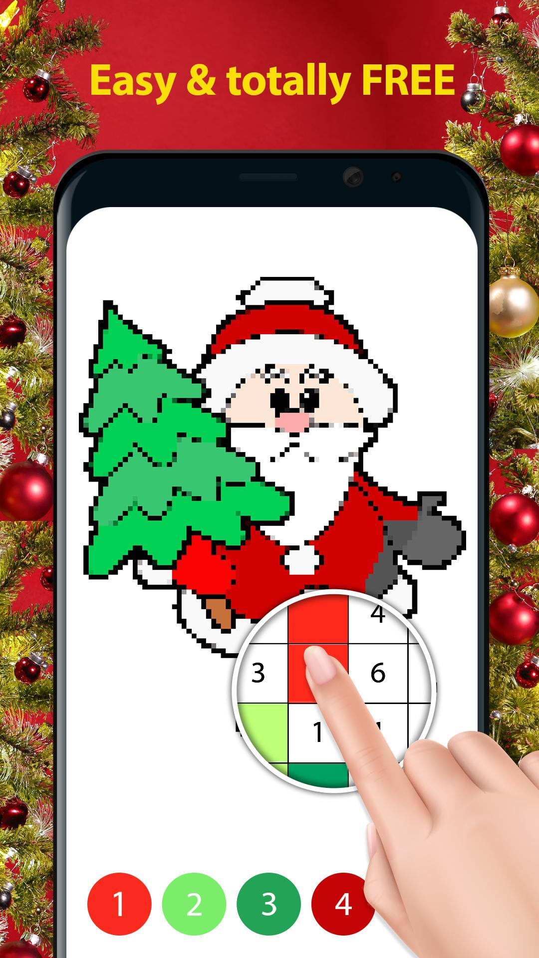 Christmas Tree Color by Number Coloring Page by Kudoz4kids | TpT | 1920x1080