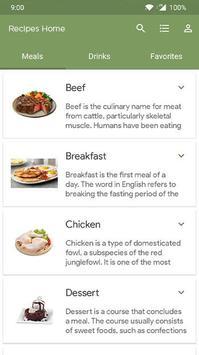Recipes Home screenshot 2