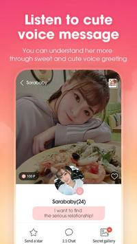 HoneyBaby - Let's talk and date with Korean screenshot 2