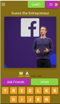 Quiz for Entrepreneurs poster