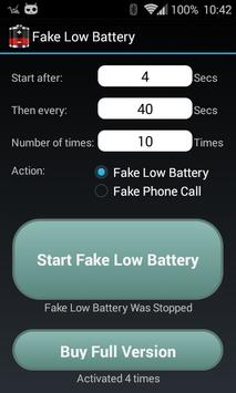 Fake Low Battery poster
