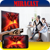Miracast Screen Display with TV icon
