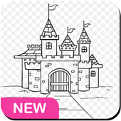 How to draw a castle icon