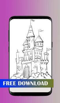 How to draw a castle poster