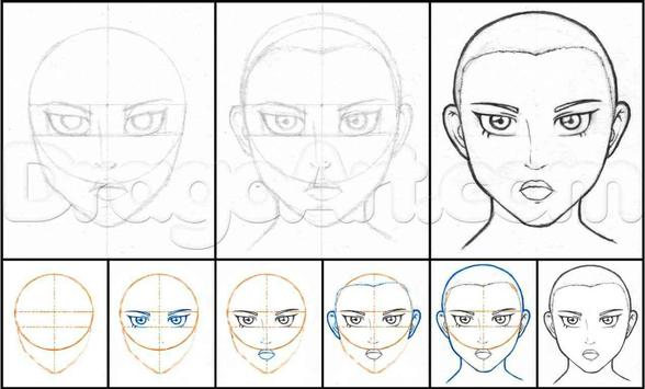 How To Draw Anime Step by Step For Beginners poster