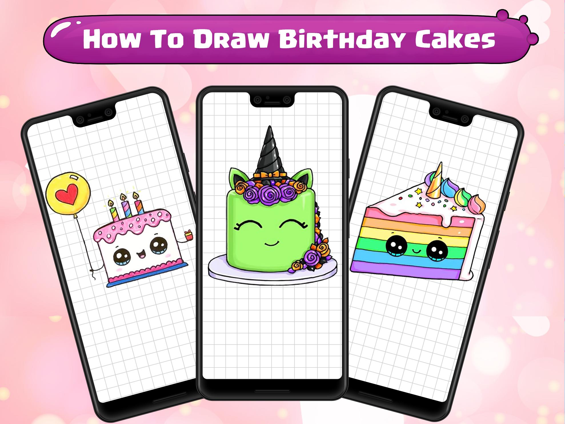 Amazing How To Draw Birthday Cakes For Android Apk Download Funny Birthday Cards Online Fluifree Goldxyz