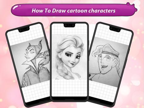 How to draw cartoon characters screenshot 8