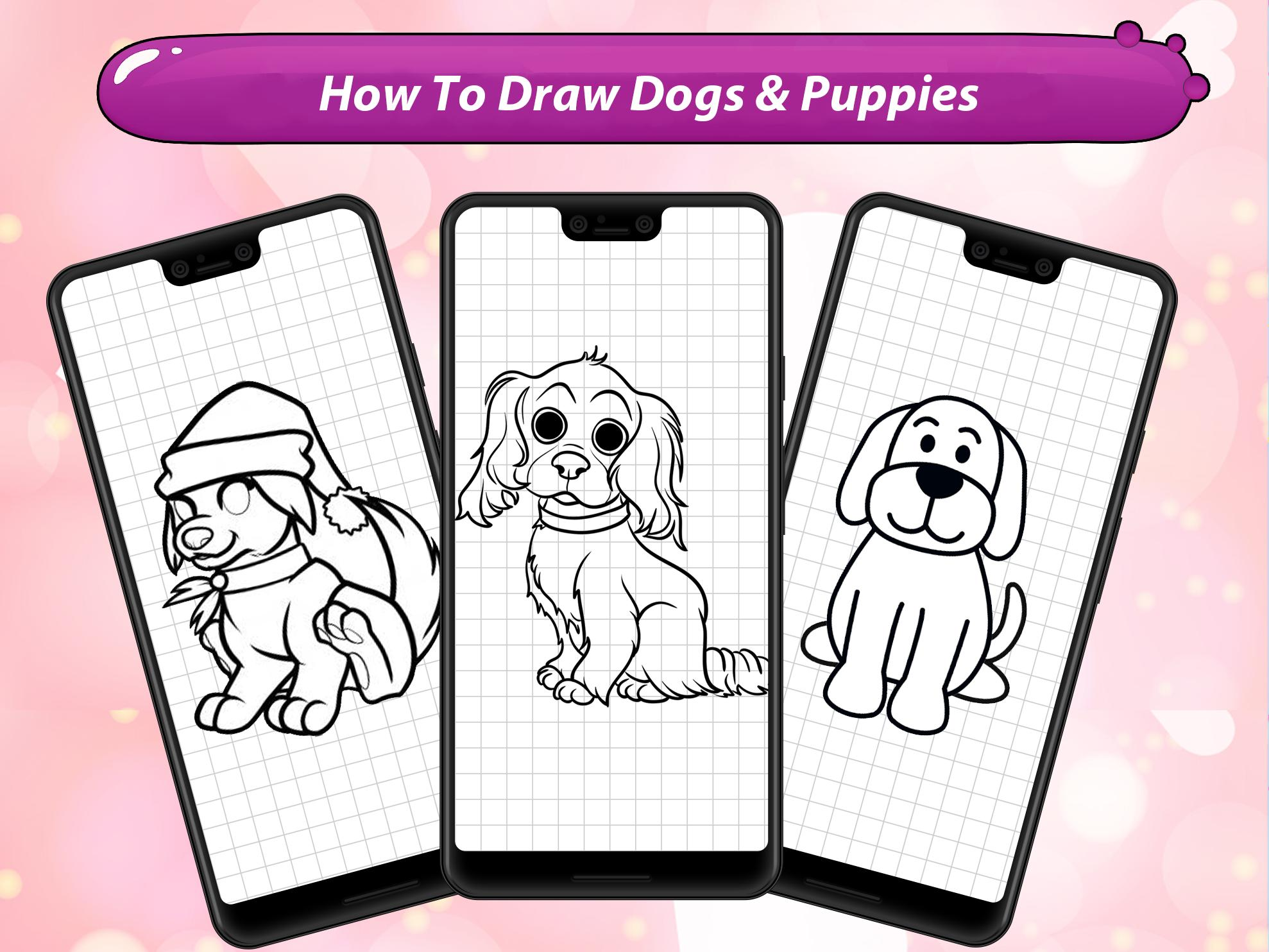 How To Draw Cute Dogs Puppies For Android Apk Download