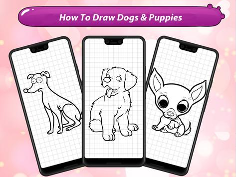 How to Draw Cute Dogs & Puppies screenshot 7