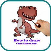 How to Draw Cute Dinosaur Easily icon