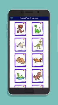 How to Draw Cute Dinosaur Easily poster
