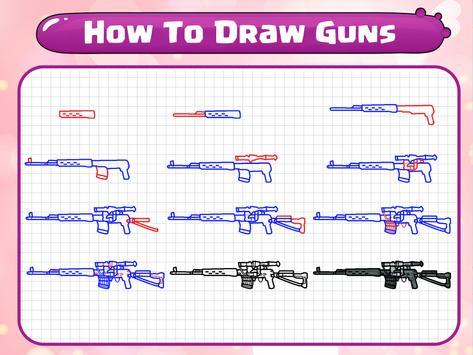 How To Draw Guns screenshot 19