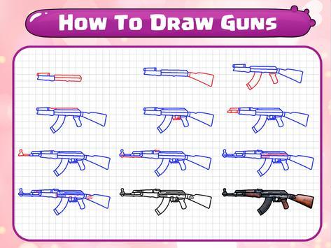 How To Draw Guns screenshot 9