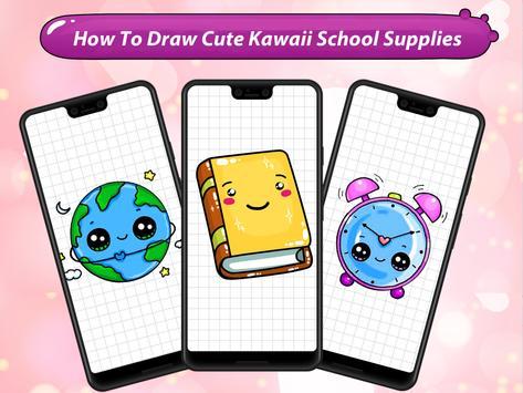 How to Draw Cute Kawaii School Supplies screenshot 11