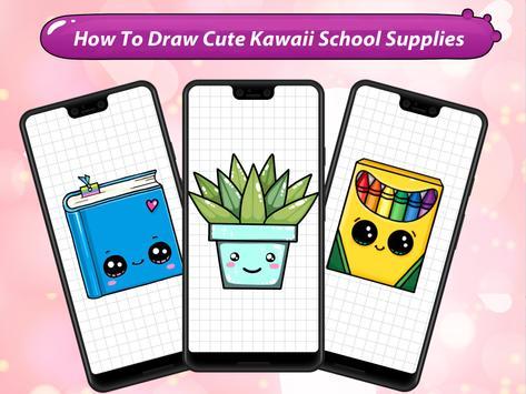 How to Draw Cute Kawaii School Supplies screenshot 6