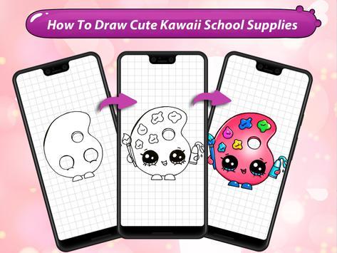 How to Draw Cute Kawaii School Supplies screenshot 9