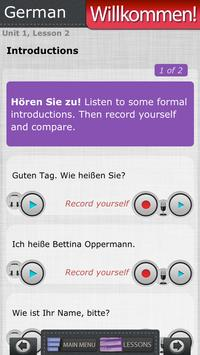 Willkommen 1: Learn German Lab screenshot 2