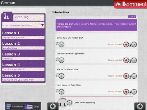 Willkommen 1: Learn German Lab screenshot 7