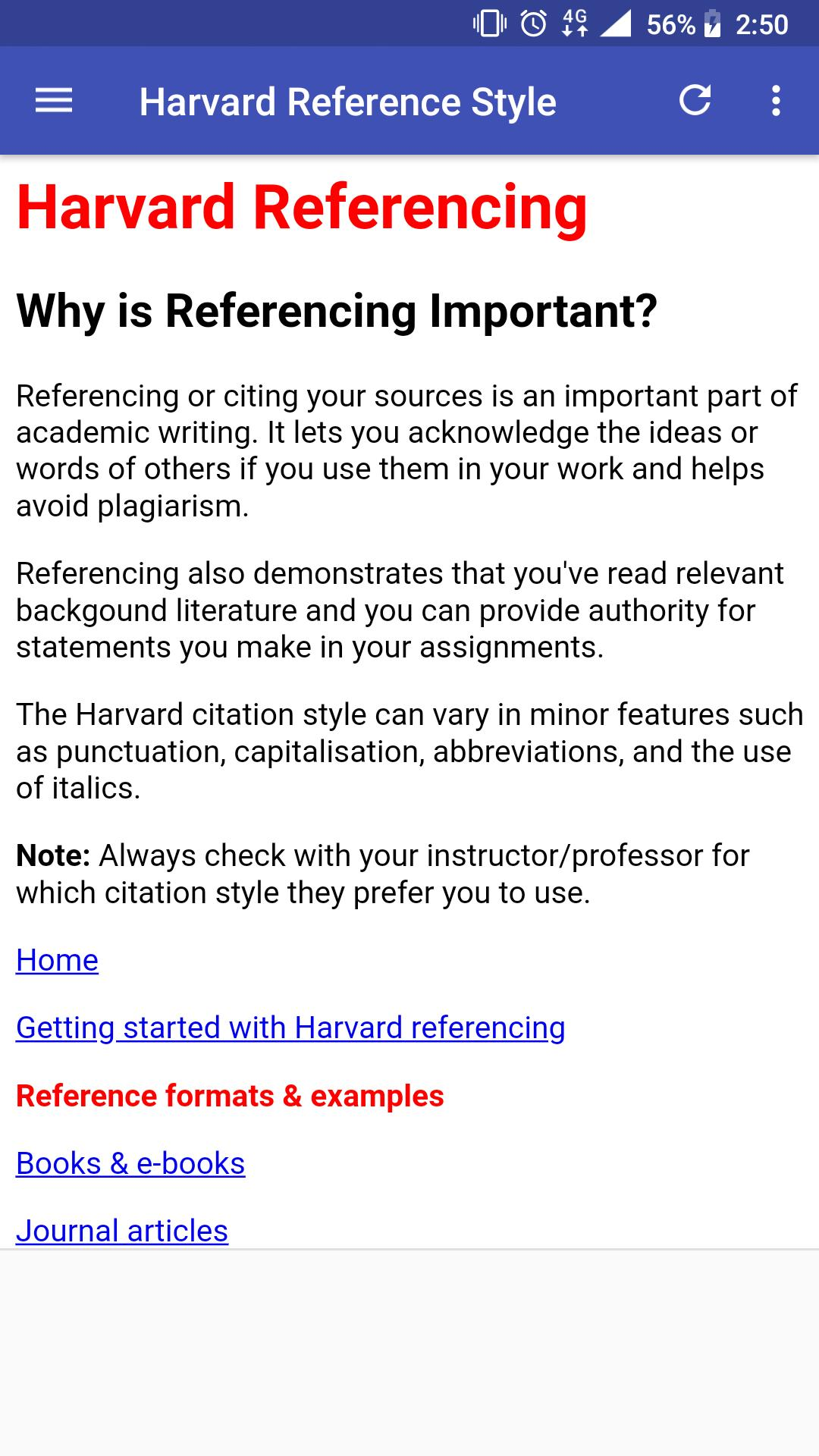 Harvard Reference Style Guide For Android Apk Download