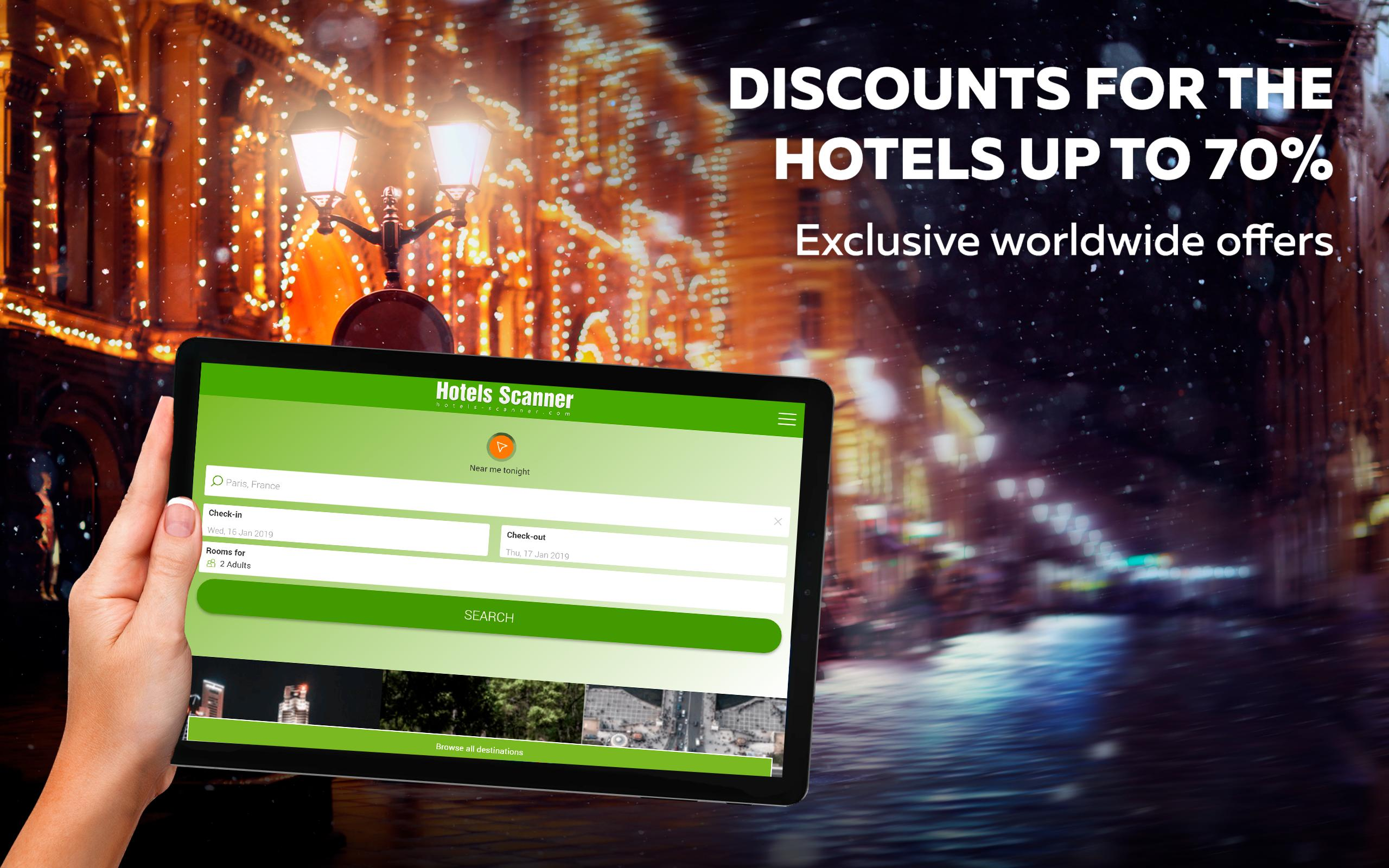 Hotels Scanner - Find the best hotel offers for Android