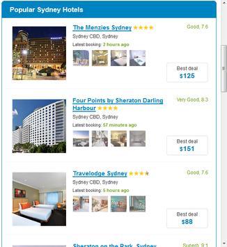 Sydney Hotels screenshot 3