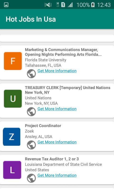 Job vacancies in USA for Android - APK Download