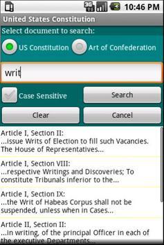 United States Constitution screenshot 1