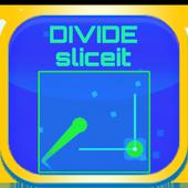 SLICE SCALE DIVIDE board cut icon