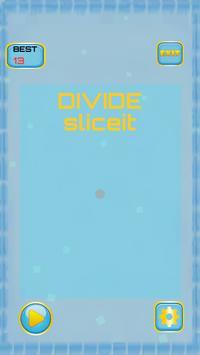 SLICE SCALE DIVIDE board cut poster