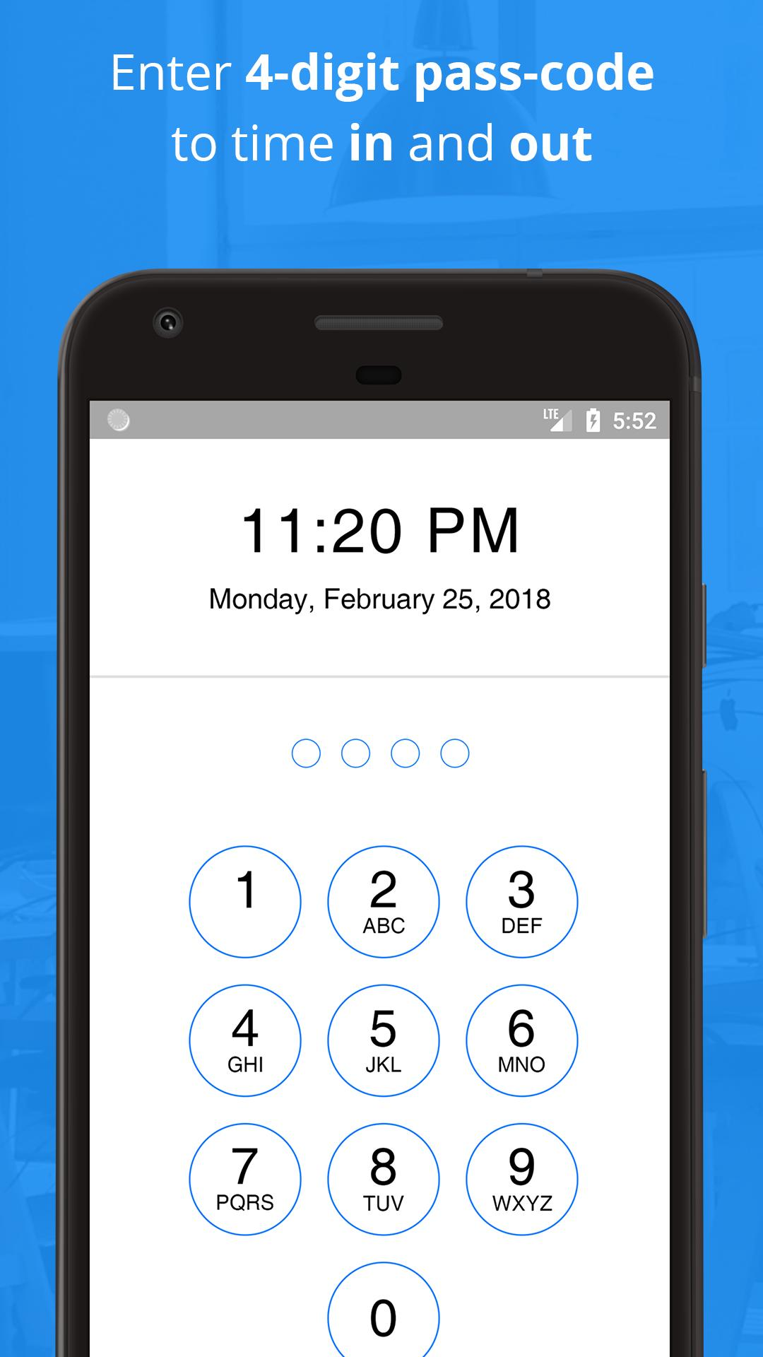 Employee Time Recording - Clock In Clock Out App for Android