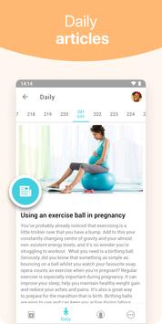 Pregnancy + | tracker app, week by week in 3D 截图 2