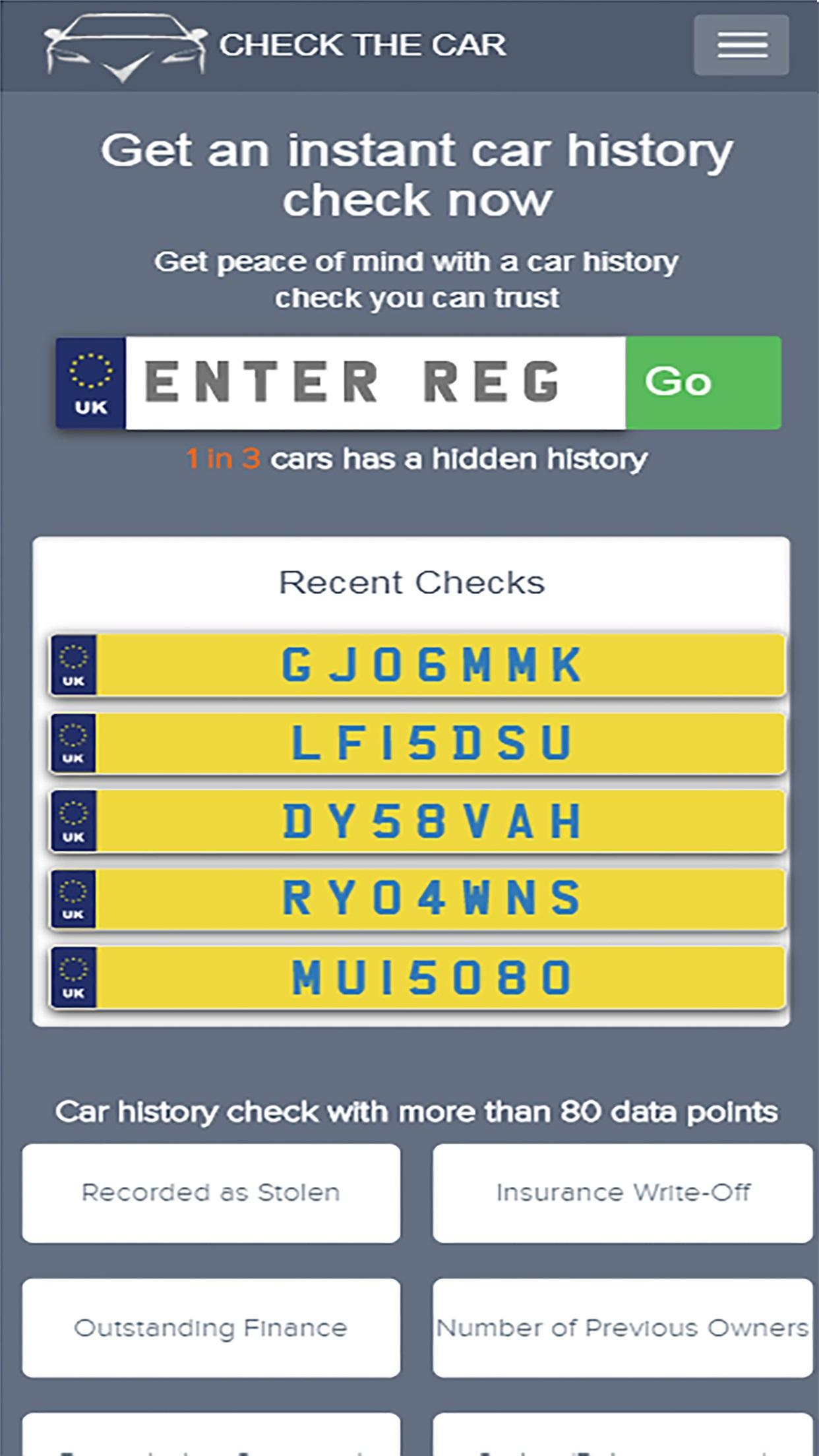 Free Car Check UK - Check The Car for Android - APK Download