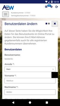 AEW Kundenportal screenshot 1