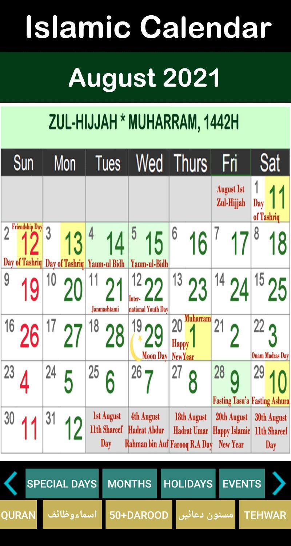 Calendar For 2021 With Holidays And Ramadan / October 2021