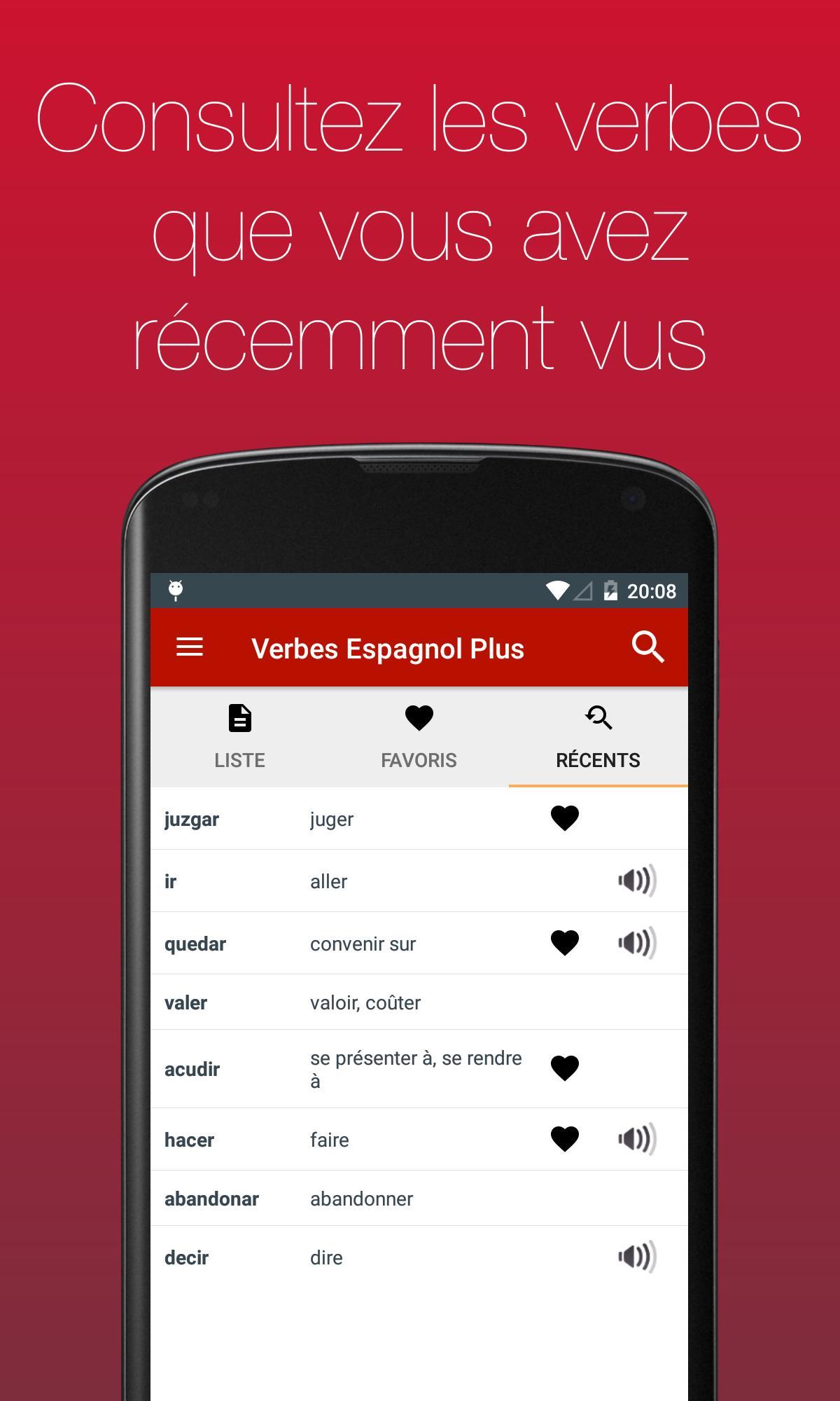 Verbes Espagnol Pour Android Telechargez L Apk