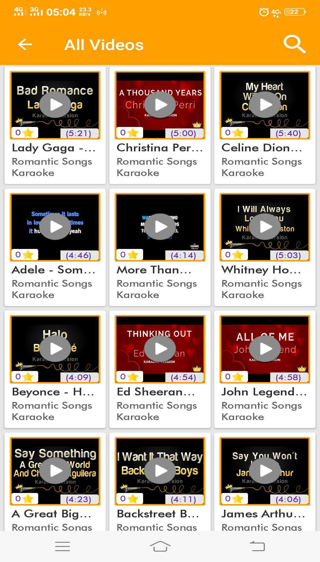 Most Romantic Songs - Karaoke Lyrics for Android - APK